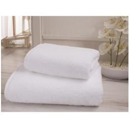 Полотенце махровое белое гостиничное Премиум  (40х70)