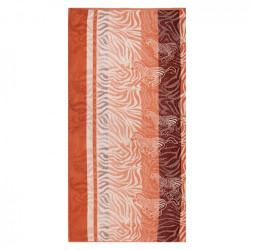 Полотенце махровое, жаккард 'Зебры'   (70х140)